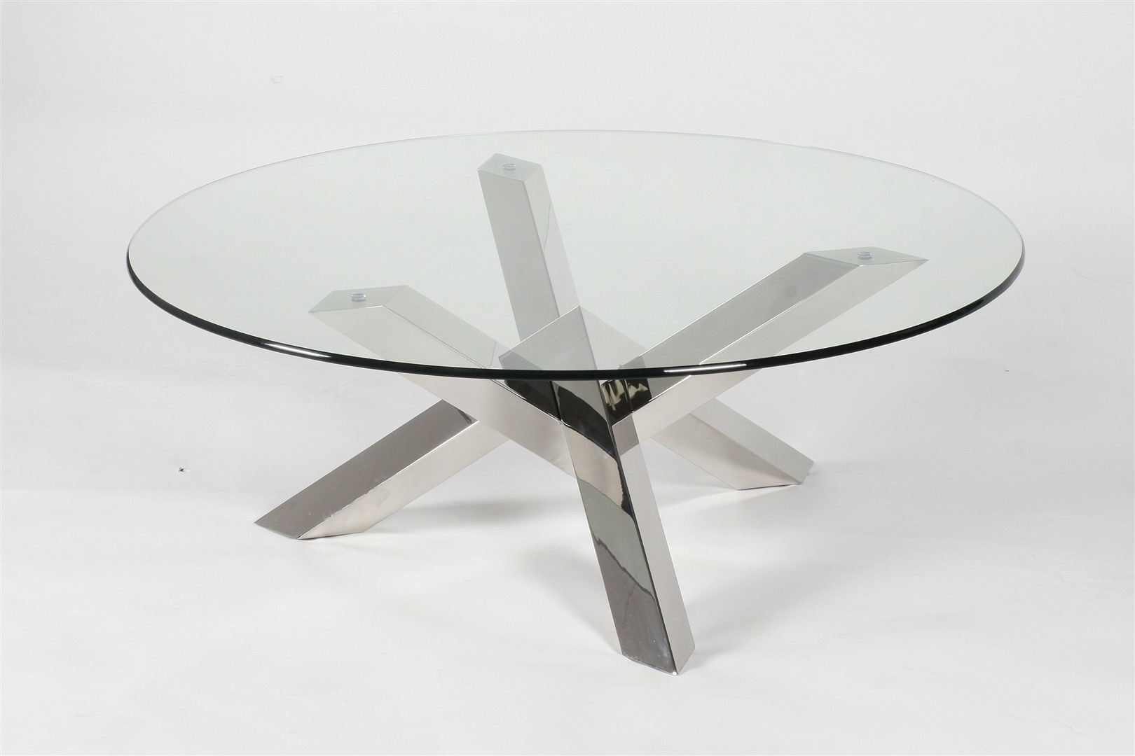 Salontafel rond in glas colifac