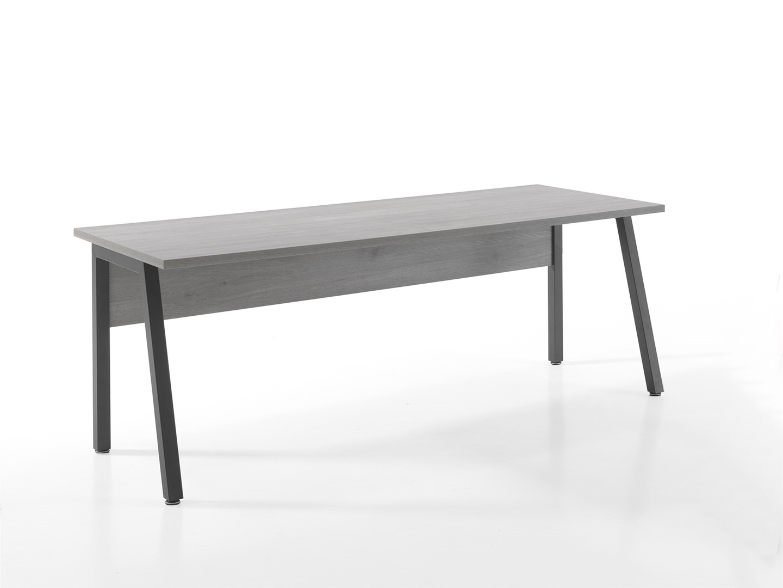 bureau 200 x 80 cm grijs colifac. Black Bedroom Furniture Sets. Home Design Ideas