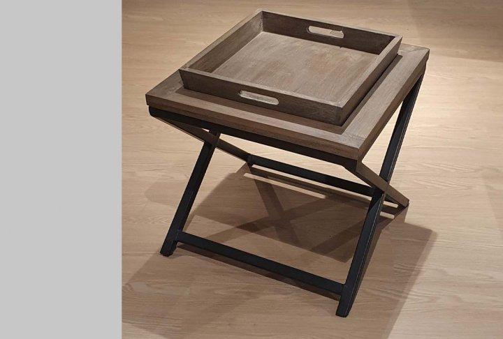 toonzaalmodel salontafel/hoektafel iron base