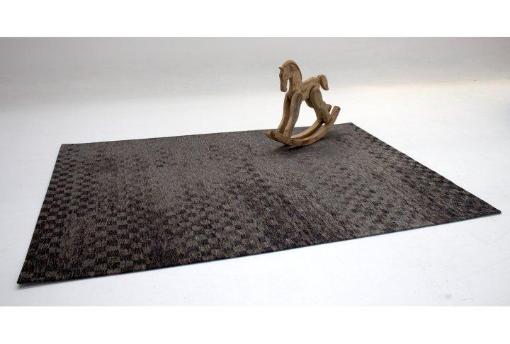 Karpet retro check antraciet 170x230cm