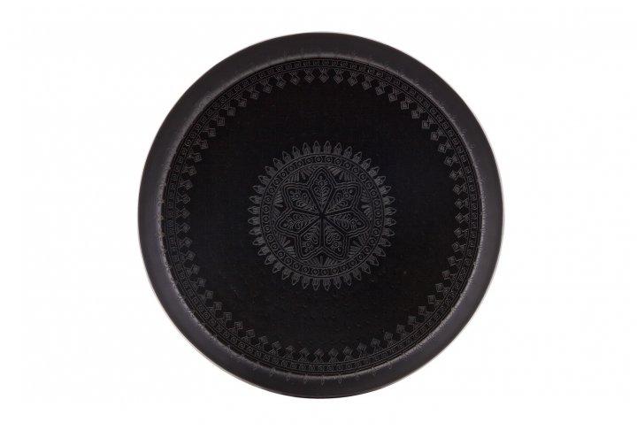 Metalen dienblad zwart