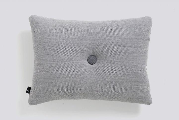 Dot kussen hay - 1 dot, light grey