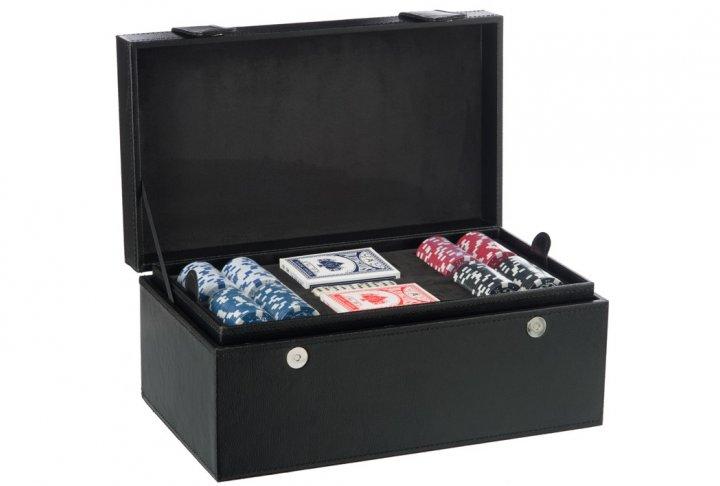 Koffer 2 fles + pokerset