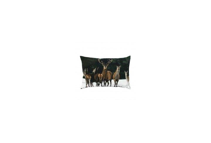Kussen canvas groot roedel herten 40x60 colifac