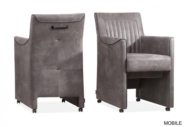 Mobile zetel op wieltjes (steel)