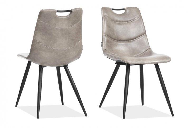 Barossa stoel (licht grijs pu)