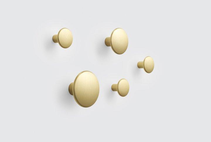 Dots muuto - metaal brass (set van 5)