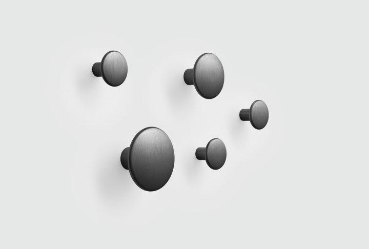 Dots muuto - metaal black (set van 5)