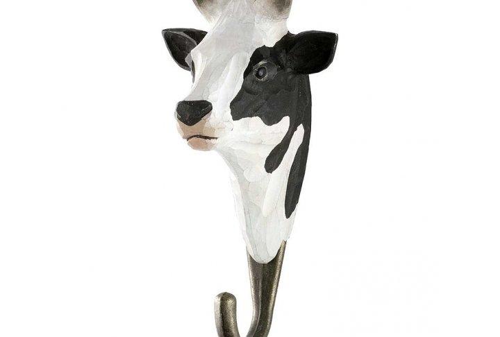 Hook black & white cow