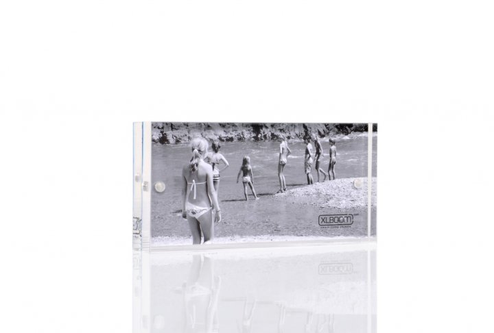 Acrylic magnetic frame xlboom 5x10 clear