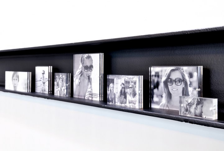Acrylic magnetic frame xlboom 13x18 clear