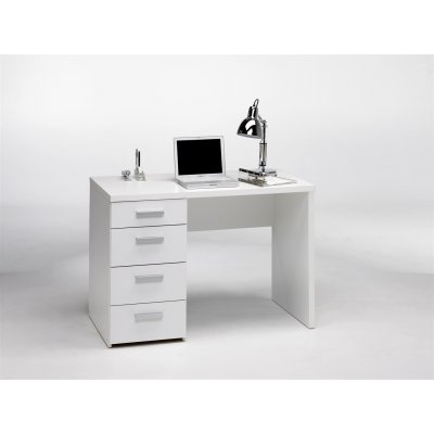 Bureau wit met 4 laden (110cm breed)