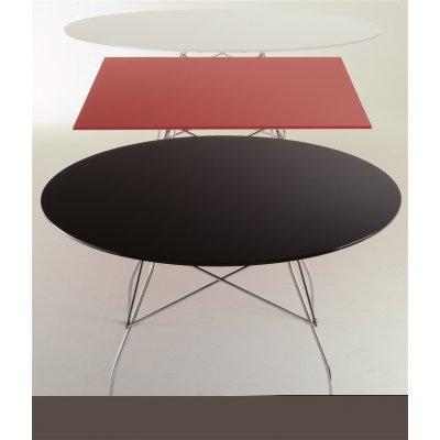 Glossy tafel rond kartell