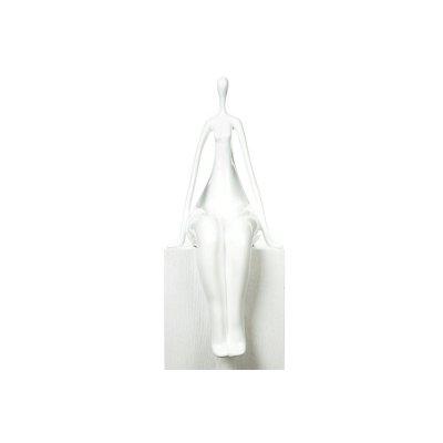 Beeld zittende vrouw wit
