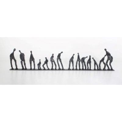 Beeld figuren op een rij