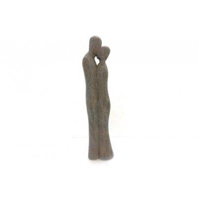 Sculpture kussend koppel