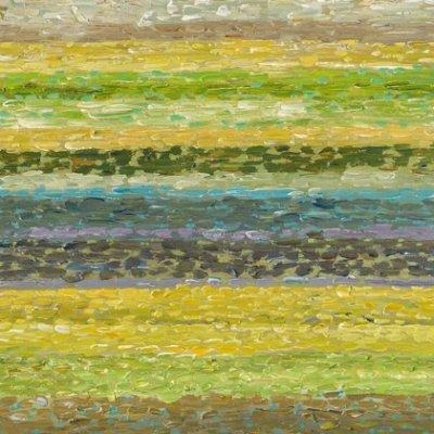 Olieverfschilderij abstract geel/blauw 6730