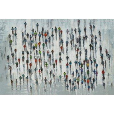 Olieverfschilderij mensenzee