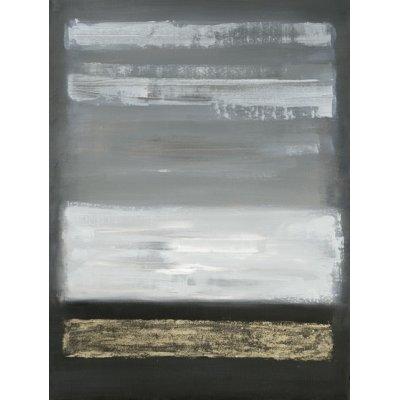 Olieverfschilderij abstract grijs 90x120