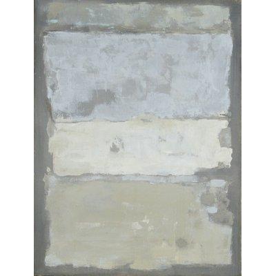 Olieverfschilderij abstr blauw/grijs 90x120