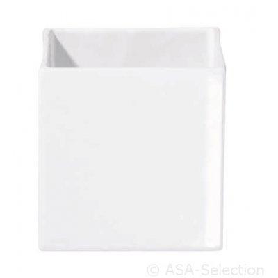 Vierkante bloempot wit 15x15cm
