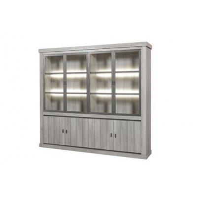 Wandkast 4 glasdeuren + 4 deuren