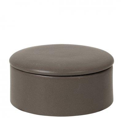 Carol deco box w/lid ceramic crocodile dia14 h7 cm -c-