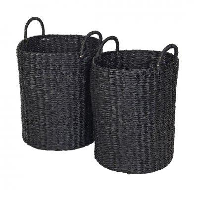Astrid basket sea grass simply black  s  -c-