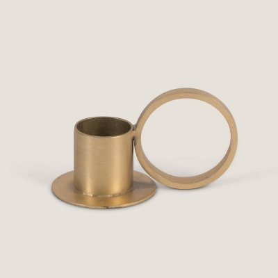 Circle candle holder gold