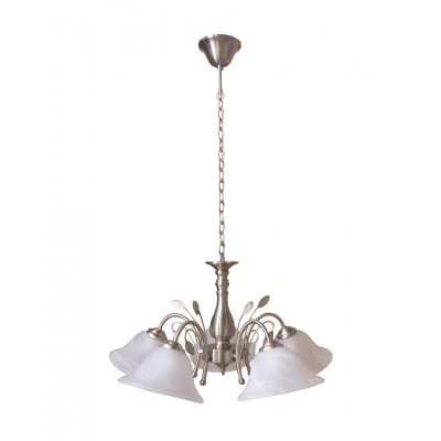 Hanglamp geborsteld staal/glas
