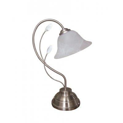 Tafellamp geborsteld staal/glas