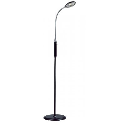 Safrane staanlamp  black chrome  5w led incl