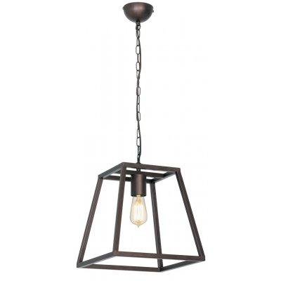 Kago hanglamp trapezium aged copper 1 lichtpunt