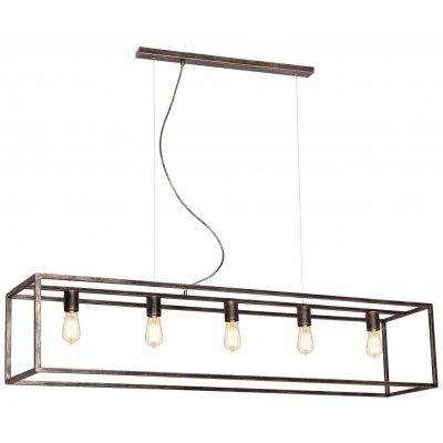 Kago hanglamp rechthoek rugine 5 lichtpunten