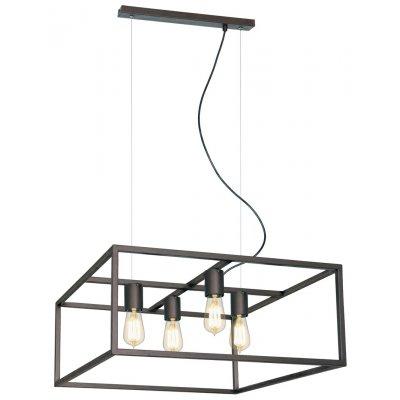 Kago hanglamp vierkant aged copper 4 lichtpunten