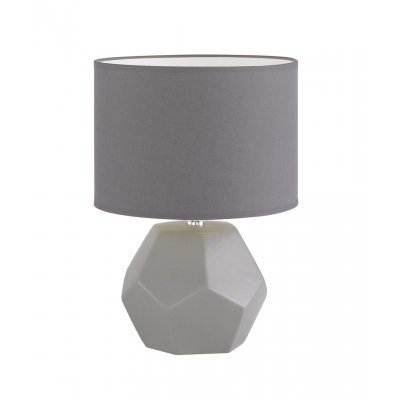 Tafellamp grijs h35cm exclusief 1 x e14 40w