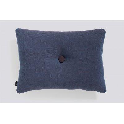Dot kussen (1 dot - pigeon blue) 45x60cm