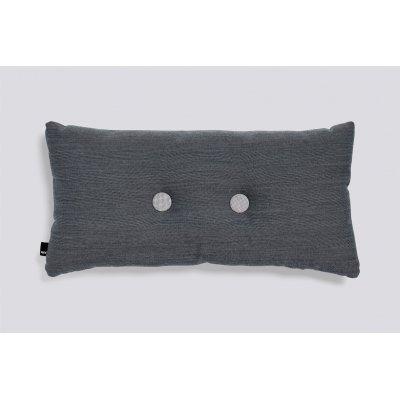 Dot kussen (2 dots - charcoal) 36x70cm