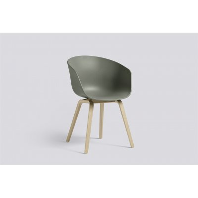 About a chair 22 polyprop dusty green/ poot oak