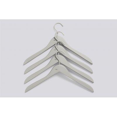Soft coat hanger grey (set van 4)