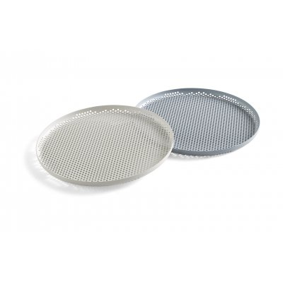 Perforated tray l soft grey