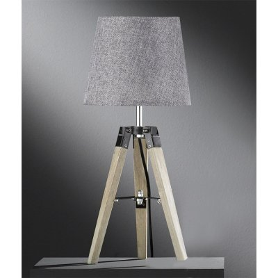 Tafellamp stage hout naturel/grijs