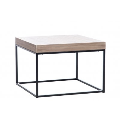 Bijzettafel rechthoekig houtkleur/metaal