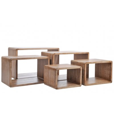 Bijzettafel rechthoekig houtkleur