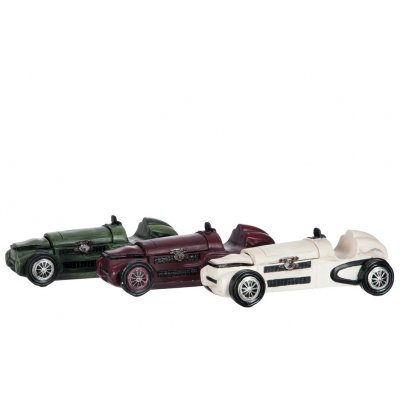 Auto wit/rood/groen