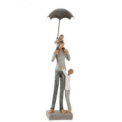 Vader en kind met paraplu