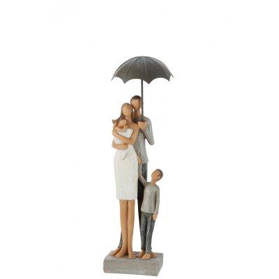 Familie met paraplu