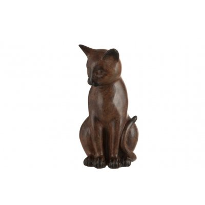 Kat zittend bruin
