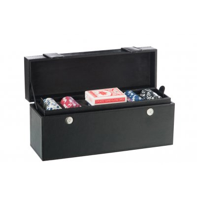 Koffer 1 fles + pokerset