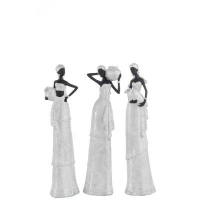 Afrikaanse vrouw in witte jurk s